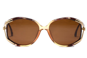 Front view Christian Dior 2490 1980's vintage sunglasses
