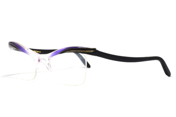 Front/side View Ladies 1950's vintage cat eye glasses