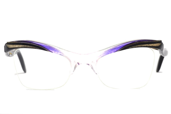 Front View Ladies 1950's vintage cat eye glasses