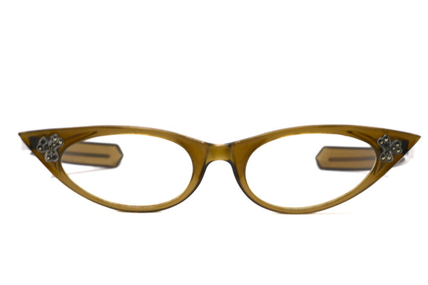 Front view 1960's ladies vintage cat eye glasses