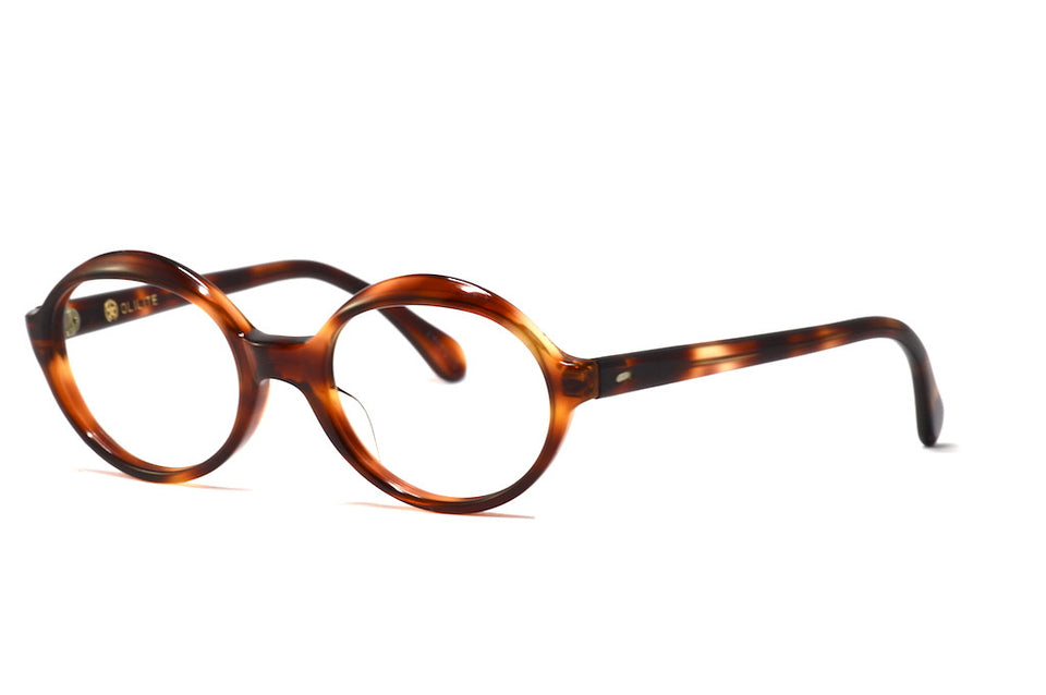 Front/side view Olilite Alive unisex vintage round glasses