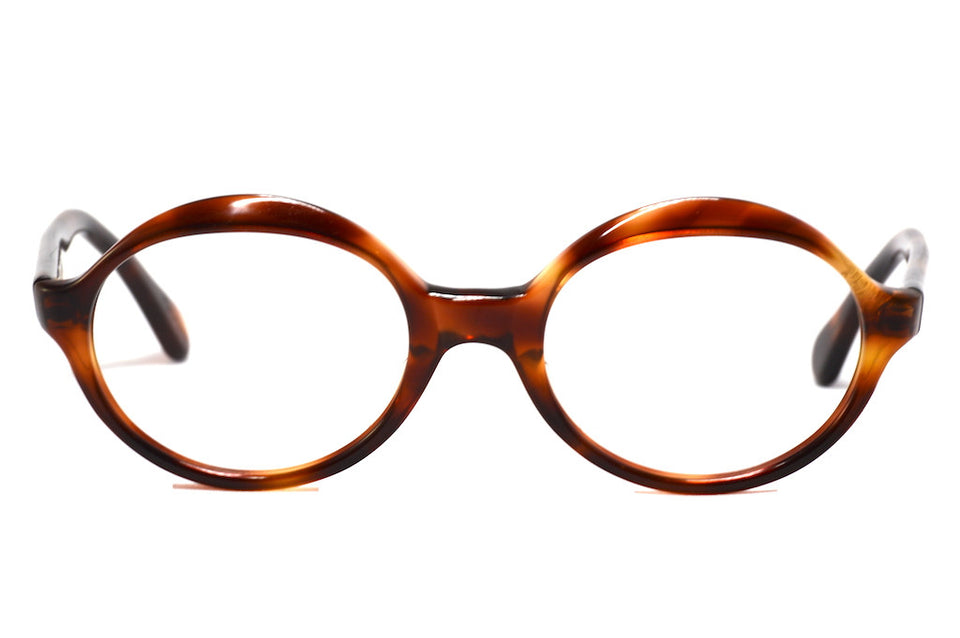 Front view Olilite Alive unisex vintage round glasses