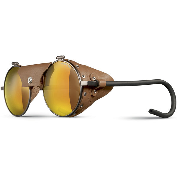 Julbo Vermont Glacier Classic Brown Fawn  Alpine Glasses, Mountaineering Glasses, Leather Side Shields