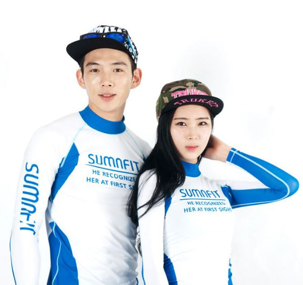 Well Body Stretch couple rash guard t-shirt