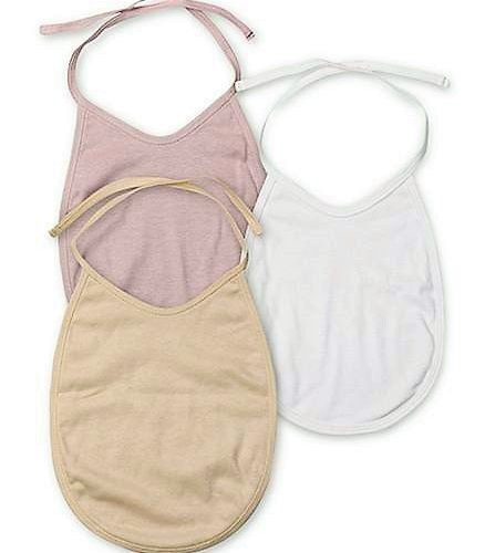 Ecoelate Organic Cotton Solid Baby Bibs 3pcs set