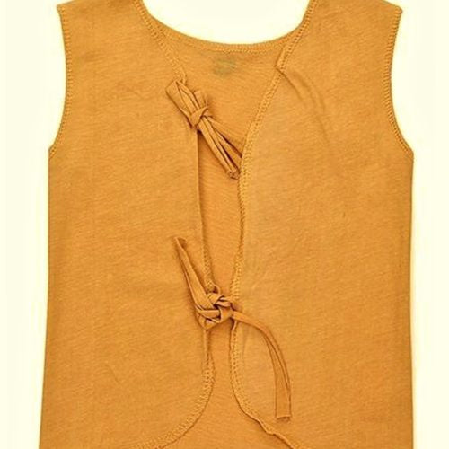 Orange Knotted Top