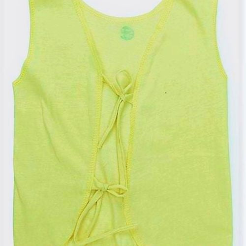 Yellow Knotted Top