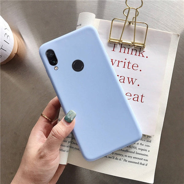 matte silicone phone case on for huawei honor play 8x max 8A 8C view 20 v20 8 9 10 lite 7x 7s 7a 7c pro v10 candy color cover