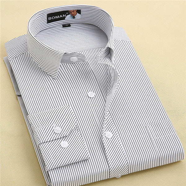 Long Sleeve Shirt Men 2017 Autumn New Fashion Designer High Quality Solid Shirt Non Iron Slim Fit Business Shirts Formal 4XL X00