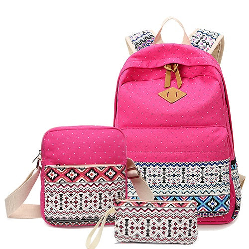 Vintage Girls School Bags for Teenagers girl Schoolbag Canvas Bag women travel bags printing School Backpack Rucksack Bagpack