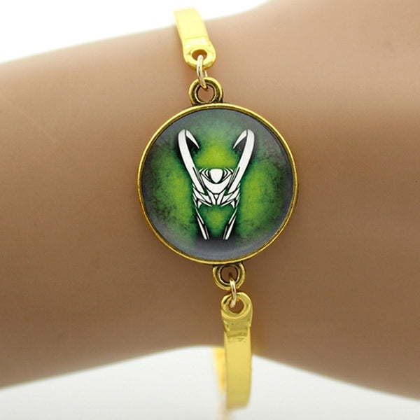 TAFREE Brand Vintage Loki God of Mischief bracelet Dress Accessories fashion Captain superhero movie fans Gift mens jewelry B275