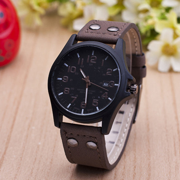 2017 Men Watch Luxury Brand Fashion Male Wristwatch Waterproof Sport Watch Casual Cowhide Copy Leather Quartz Business Watches
