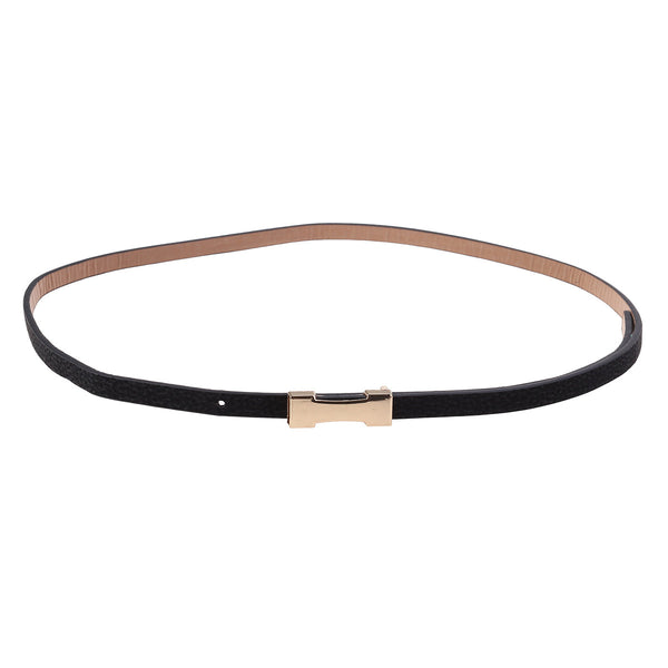Women Buckle Skinny Waist Belt Adjustable PU Leather Ladies Belts for Dress