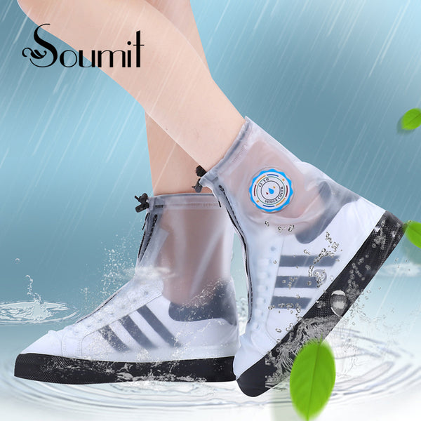 Soumit All Seasons Waterproof Rain Reusable Shoes Covers Protector Rain Boots Overshoes For Men or Women's Shoes Accessories