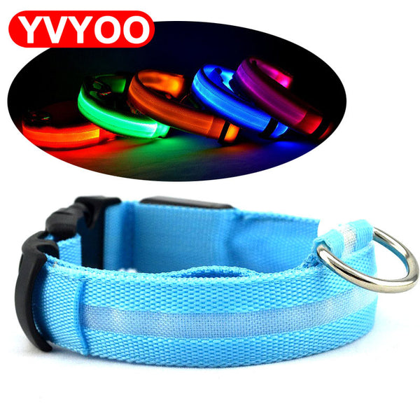 LED Night Flashing Glowing Pet dog Collar, Pet Collar Luminous for Dogs Cats Dog Accessories Dog Supplies