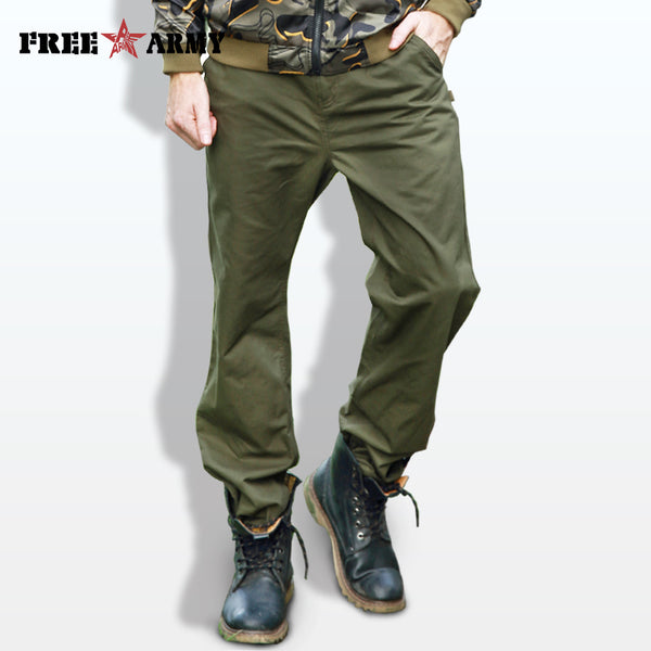 ARMY New Autumn 2017 Casual Pants Men Brand Clothing Fashion Army Green Trousers Male Top Quality Loose Fit Pants MK-7162A