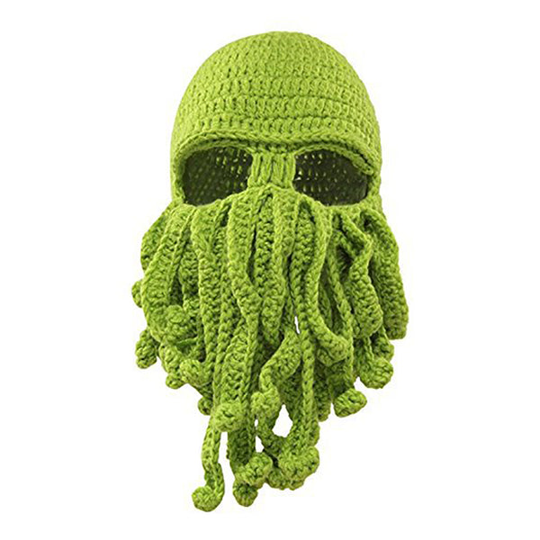 Winter face mask hand woven mask snowboard octopus wool balaclava funny hat warm bonnet homme cap face mask winter casual cap