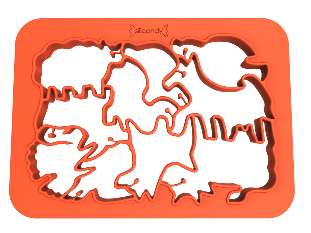 One Piece Cookie Cutter - Farm Animals (Red)