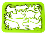 One Piece Cookie Cutter - Jungle Animals (Green) - Silicandy