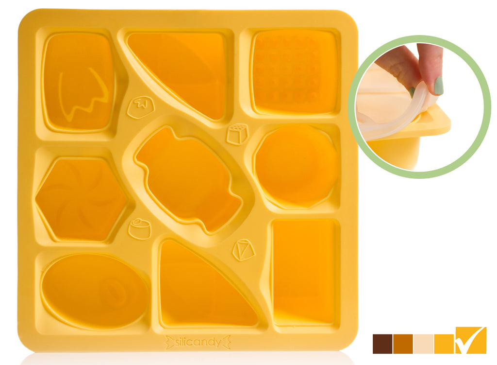 Large Candy-Shaped Silicone Mold - 3 oz. Portions - HC - Silicandy