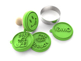 Silicandy Cookie Stamp Molds - Social Media Theme (Green)