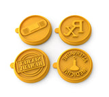 Silicandy Cookie Stamp Molds - Get Well Soon Theme (Yellow)