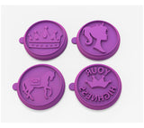 Silicandy Cookie Stamp Molds - Royal Princess Theme (Purple)