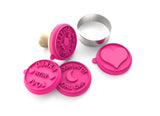 Silicandy Cookie Stamp Molds - Spread the Love Theme (Pink)