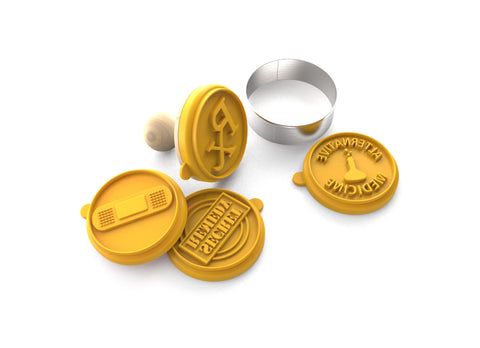 Silicandy Cookie Stamp Molds - Get Well Soon Theme (Yellow) - Silicandy
