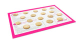 NonStick Silicone Baking Mats - 3 pc Set - Pink