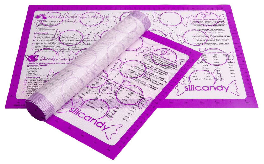 NonStick Silicone Baking Mats - 3 pc Set - Purple