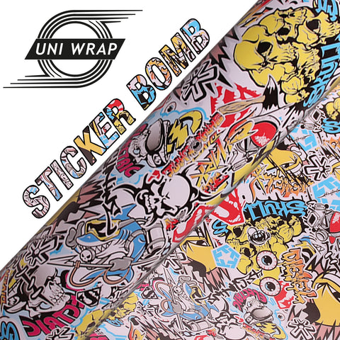Uni Wrap Sticker Bomb Vinyl 'Bling Flash'