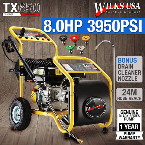 WILKS USA TX650 High Pressure Washer, Petrol