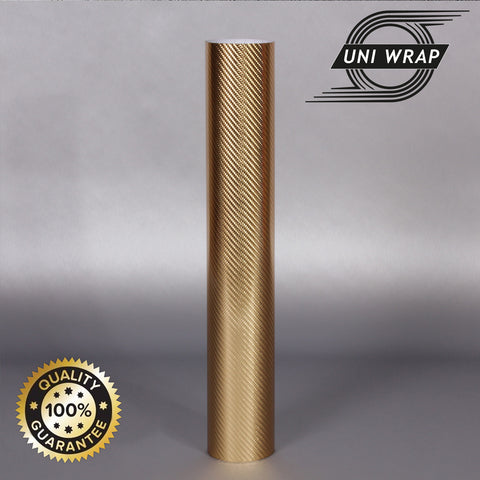 Uni Wrap 4D Carbon Fibre Vinyl 'Chrome Gold'