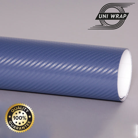 Uni Wrap 3D Carbon Fibre Vinyl 'Dark Blue'