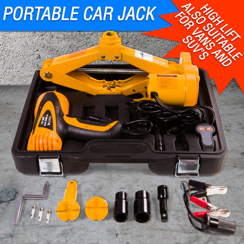 12V Impact Wrench & Electric Jack Kit for Cars also for SUV's & Vans