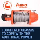 Rhino 17500lb Winch with Steel Cable