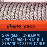 Rhino 20,000lb Winch With Steel Cable