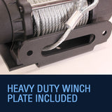 Rhino 4500lb 12V Winch, With Steel Cable