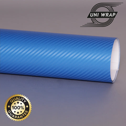 Uni Wrap 3D Carbon Fibre Vinyl 'Jewellery Blue'