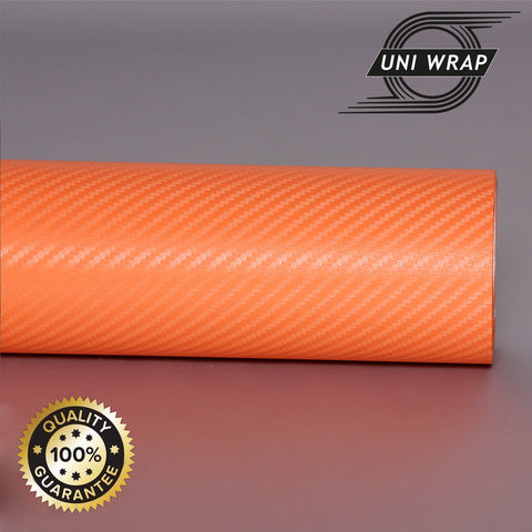 Uni Wrap 3D Carbon Fibre Vinyl 'Orange'