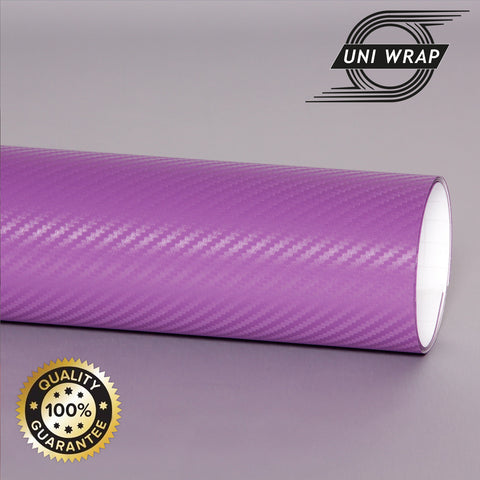 Uni Wrap 3D Carbon Fibre Vinyl 'Purple'