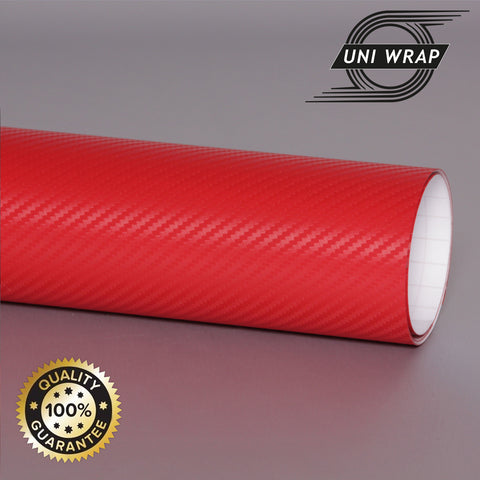 Uni Wrap 3D Carbon Fibre Vinyl 'Red'