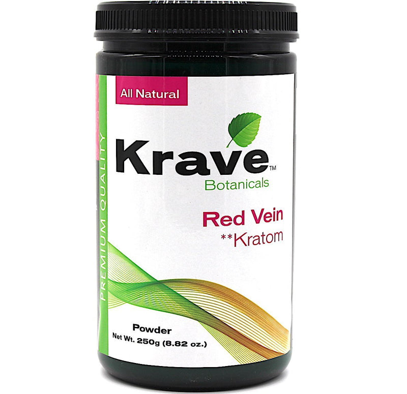 Krave Kratom Red Vein Powder 250g. Progressive Discounts Available! - K-Chill Direct