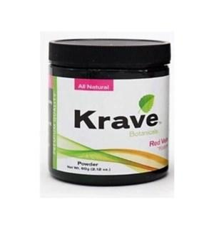 Krave Kratom Red Vein Powder 60g. Progressive Discounts Available! - K-Chill Direct