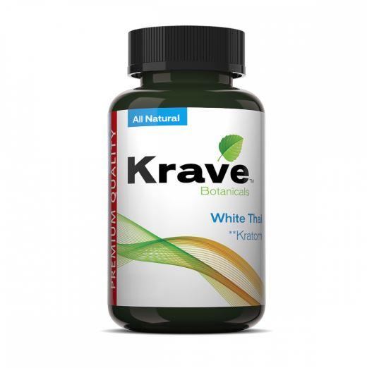 Krave Kratom White Thai 500ct Capsules - Progressive Discounts Available - K-Chill Direct