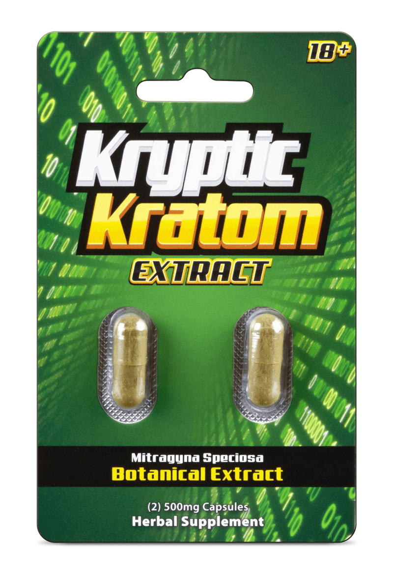 Kryptic Kratom Extract 2 Pack Caps. Progressive Discounts Available! - KCD Store