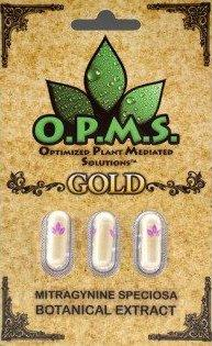 OPMS Gold Kratom Extract Capsules - Progressive Discounts Available - K-Chill Direct