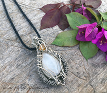 Load image into Gallery viewer, Mens Moonstone Necklace