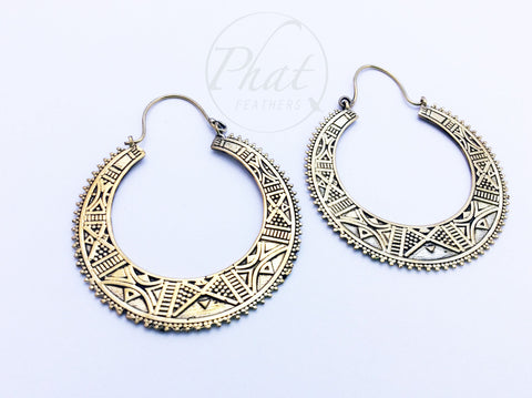 Tuareg Tribe Inspired Hoop Earrings